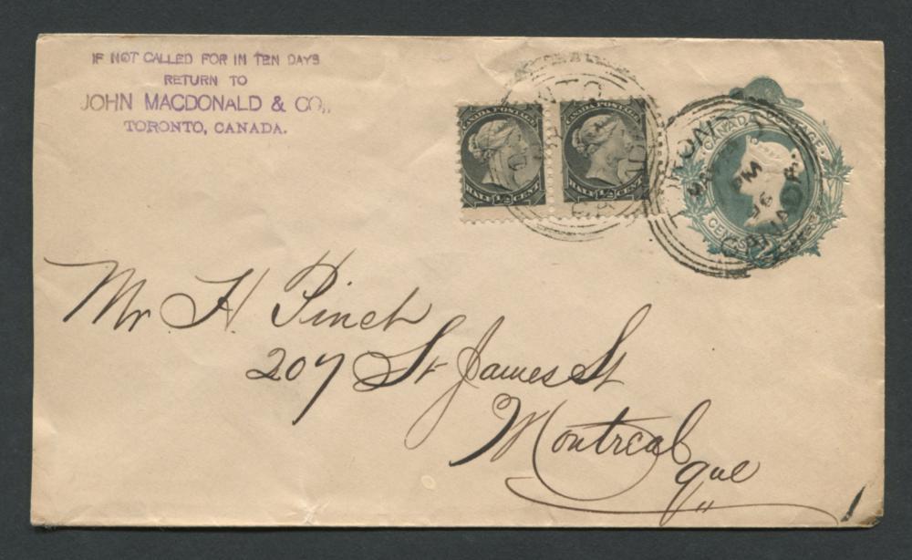 Canada Victoria Stamp Cover 2x 1/2c 1897