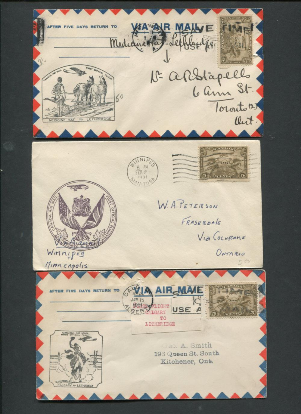 Canada First Flight Stamp Covers 2