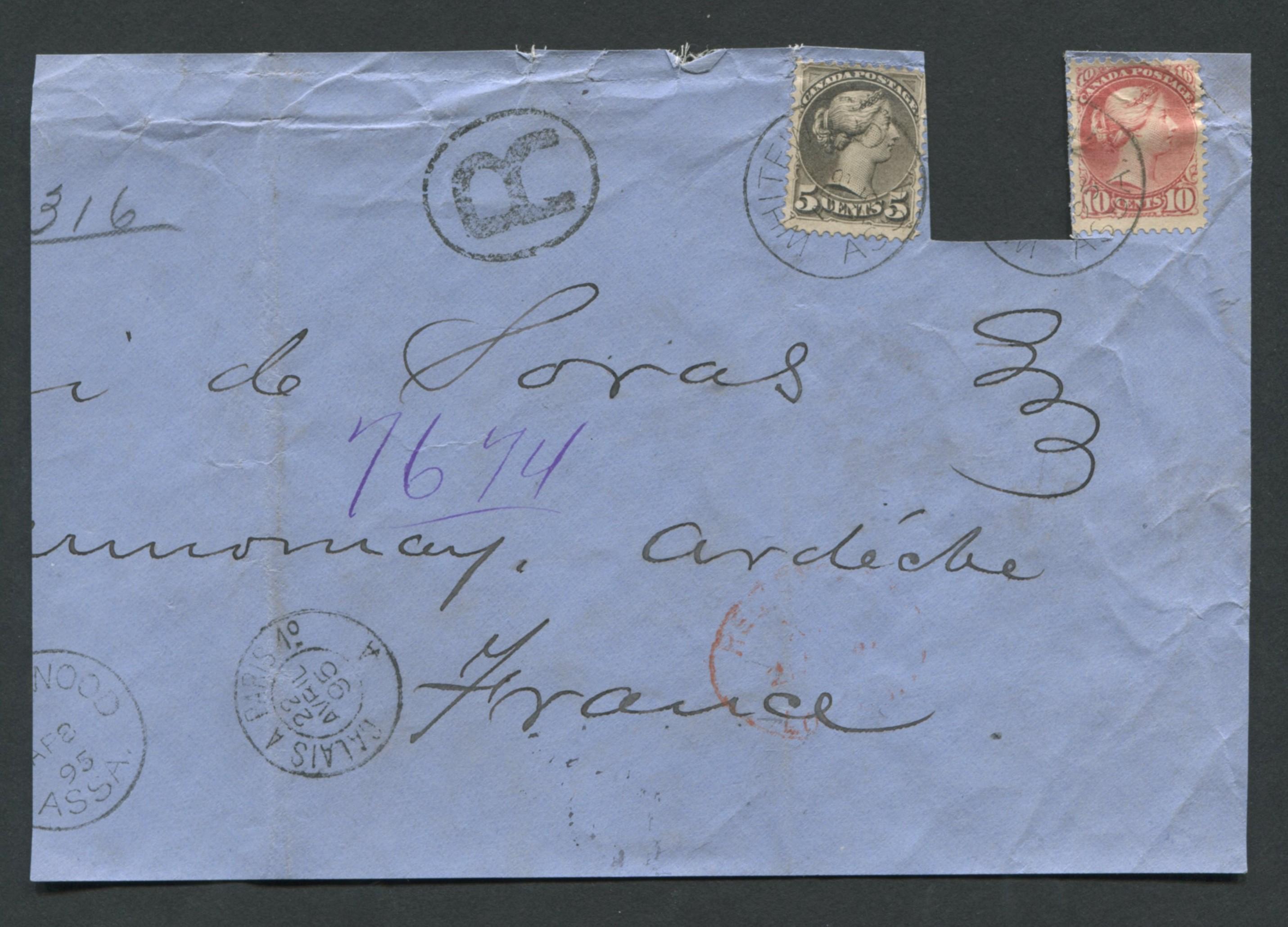 Canada Victoria Stamp Cover 1895 2