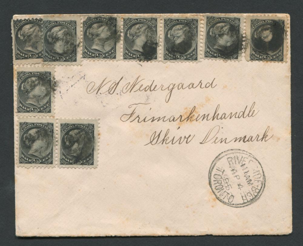 Canada Victoria Stamp Cover 1895 1