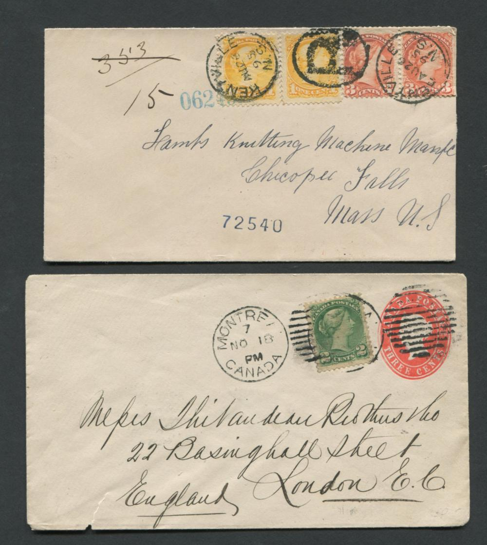 Canada Victoria Stamp Covers 3