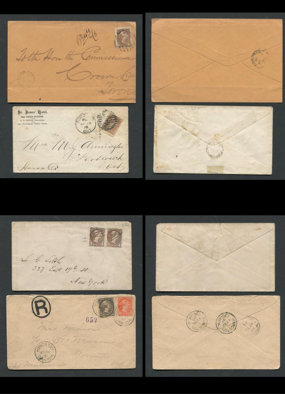Canada Victoria Stamp Covers 4