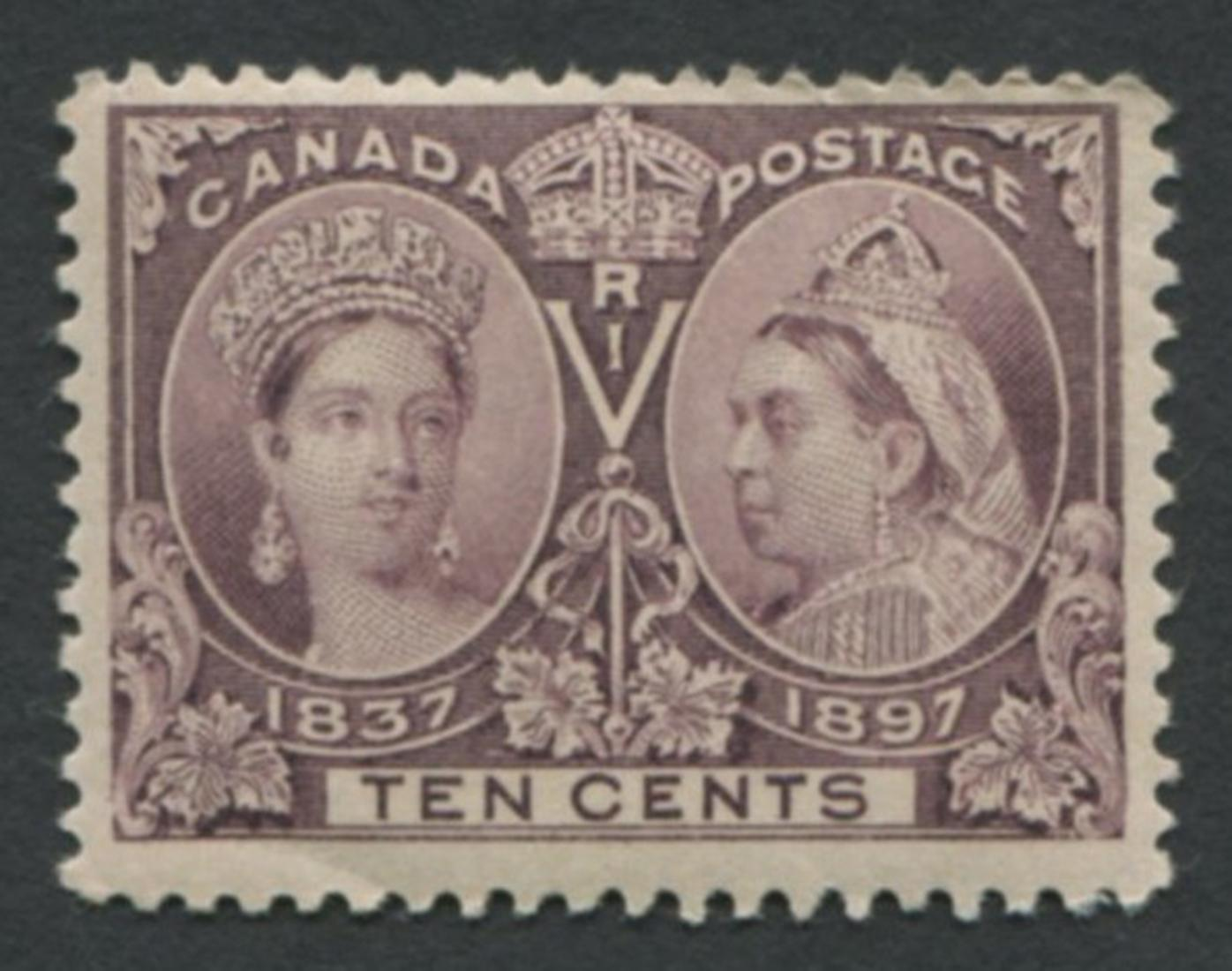 Canada 1897 #57 10c Jubilee MNH F/VF OG