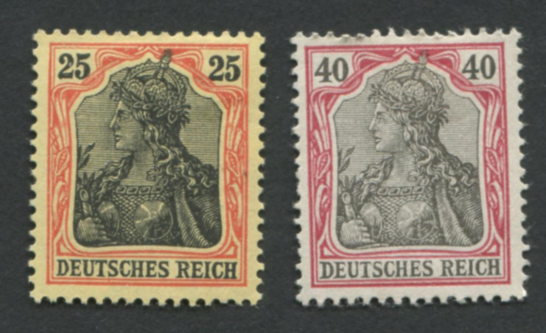 Germany 1902 #70 + #72 XF MH Stamps