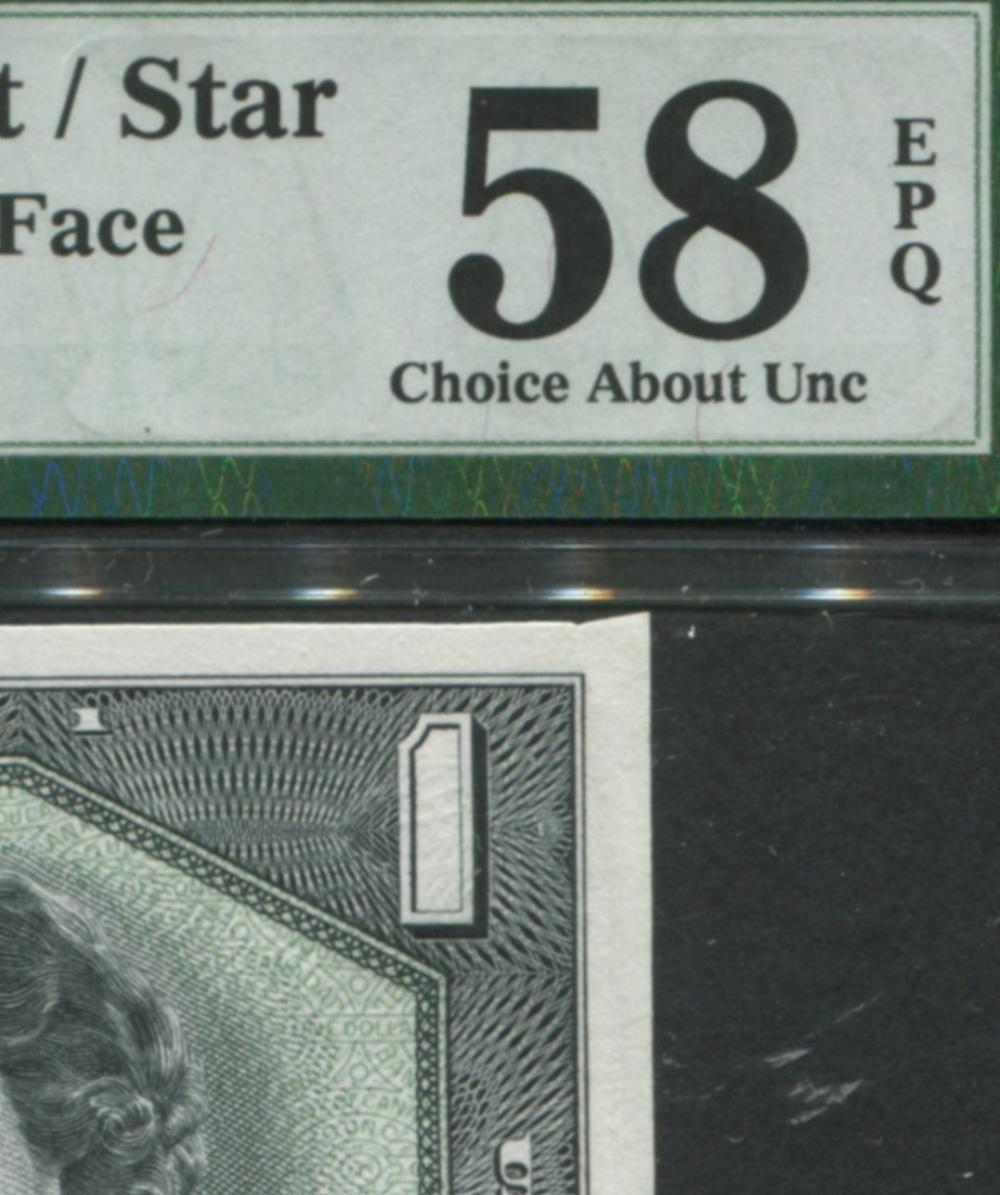 Bank of Canada 1954 $1 Devil's Face Replacement Banknote AU58 RARE