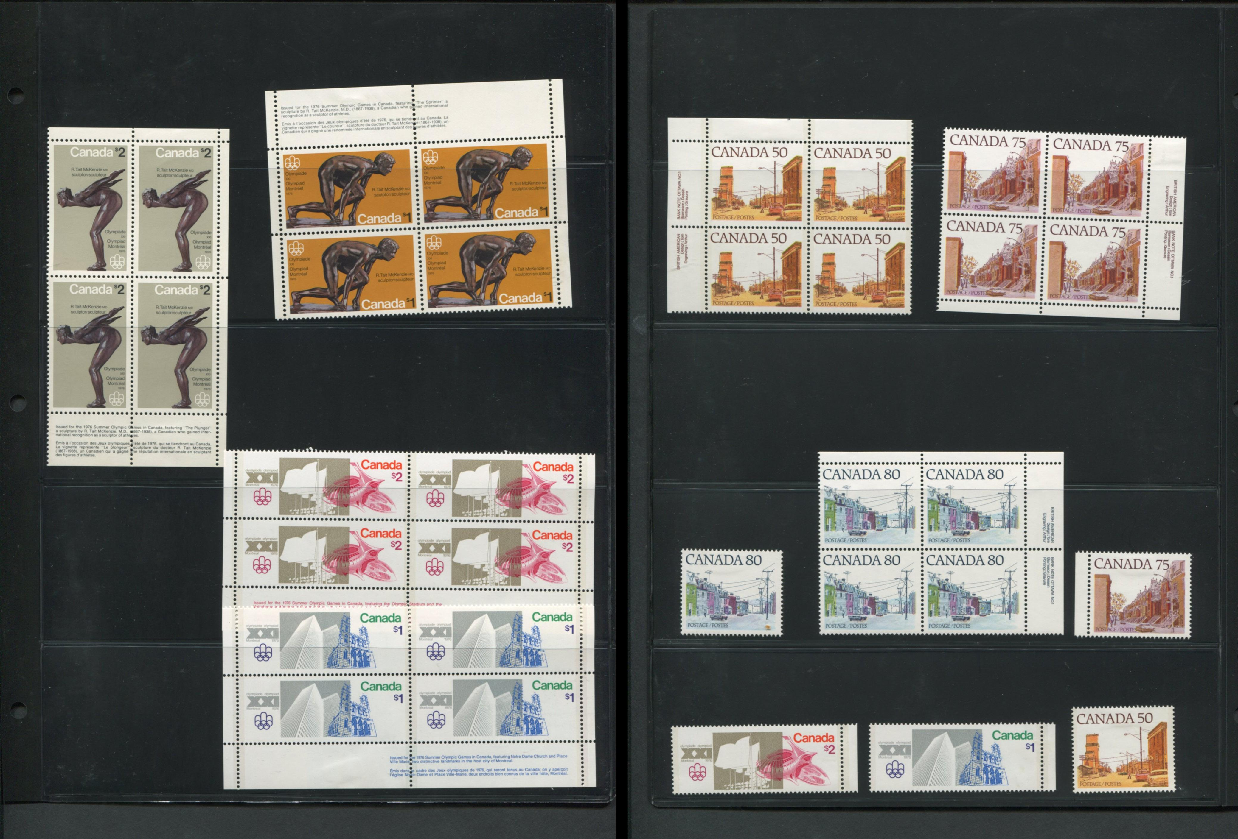Canada Mint Plate Blocks and Singles