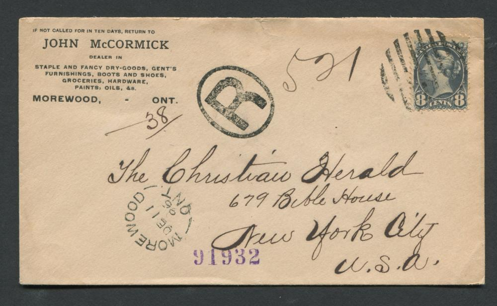 Canada Victoria Advertising Stamp Cover