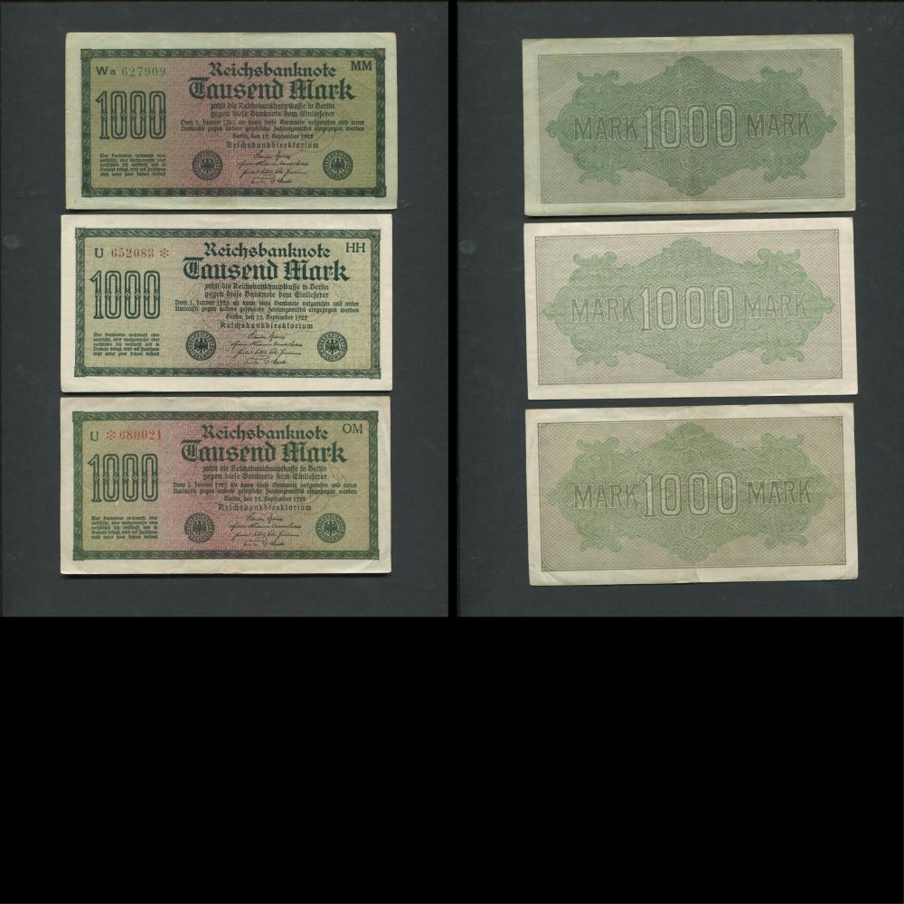 Germany 1908-22 Banknote Collection