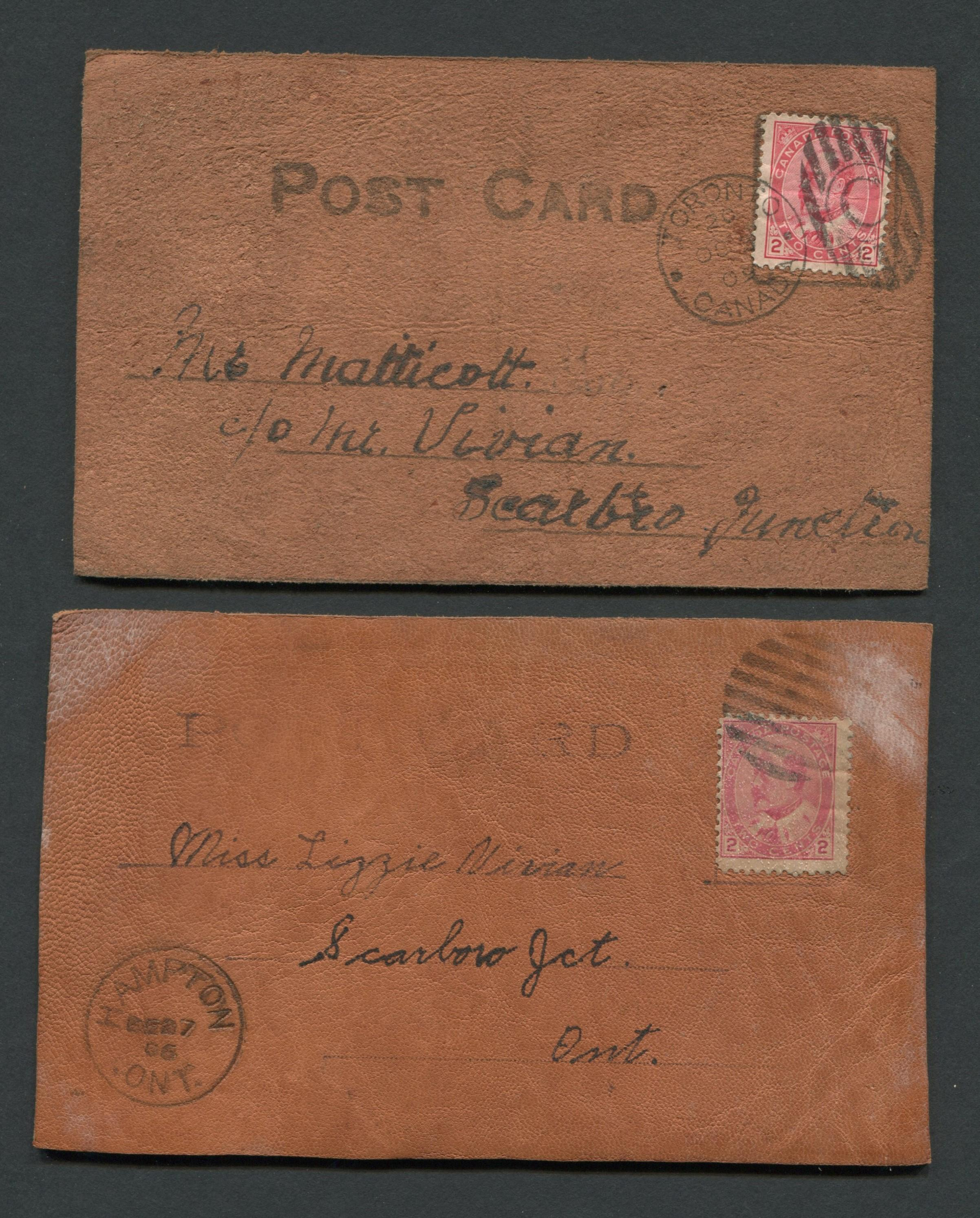 Canada Edward VII Leather Post Cards
