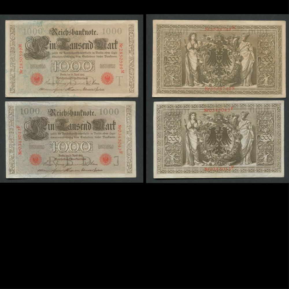 Germany 1000 Marks Banknote Collection