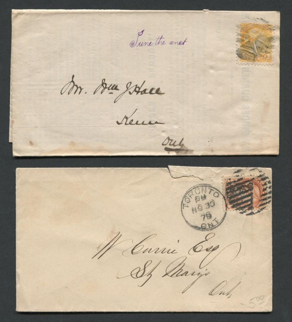 Canada Victoria Stamp Covers 6