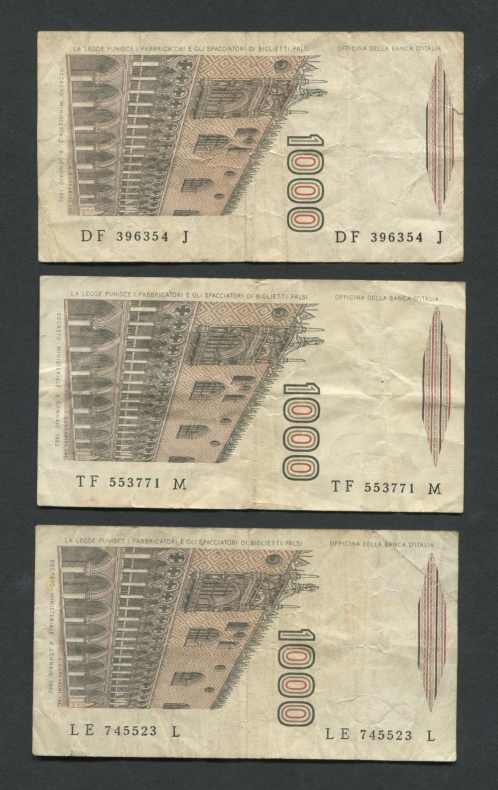 Italy 1000 Mille #109a Banknote Collection