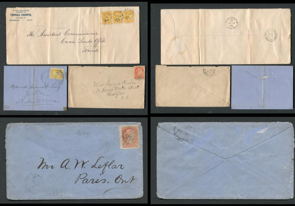 Canada Victoria Stamp Covers 7