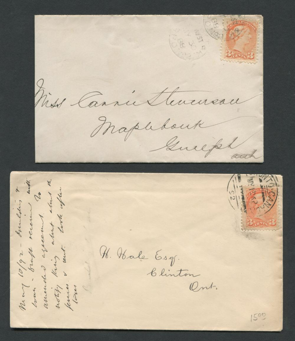 Canada Victoria Stamp Covers 9