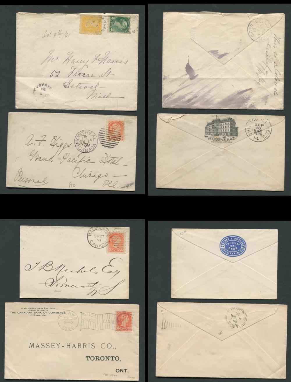 Canada Victoria Stamp Covers 12