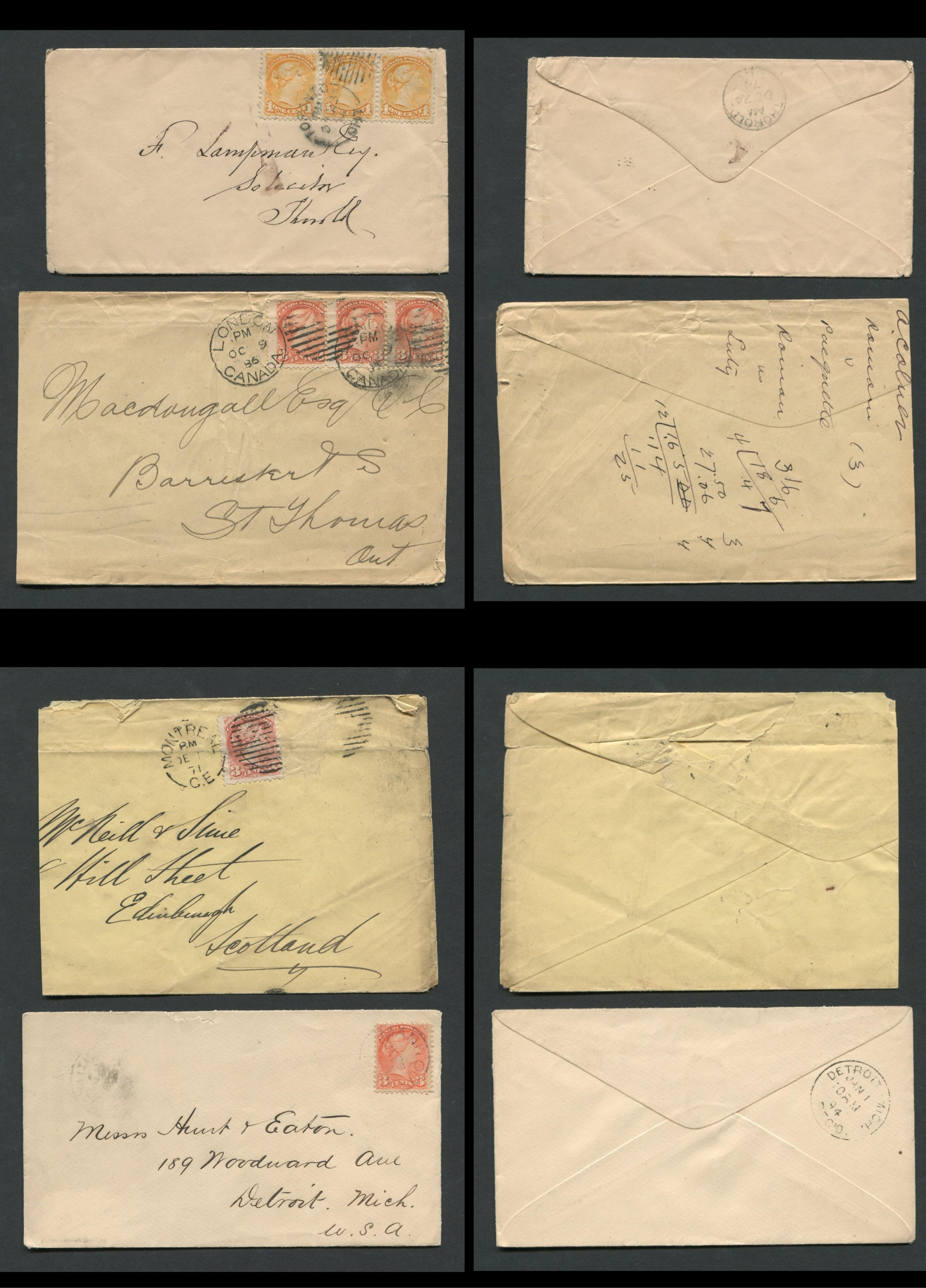 Canada Victoria Stamp Covers 13