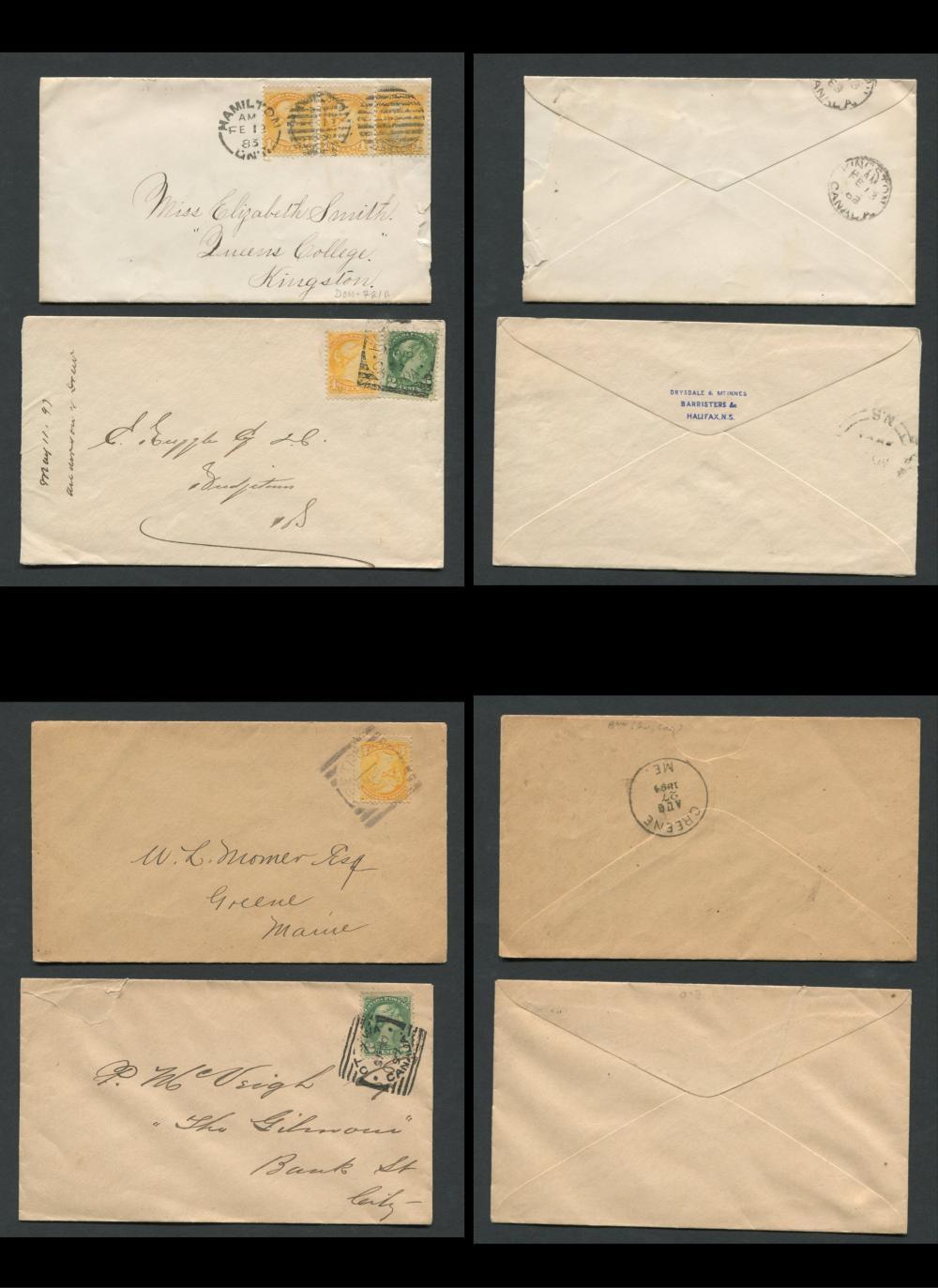 Canada Victoria Stamp Covers 15