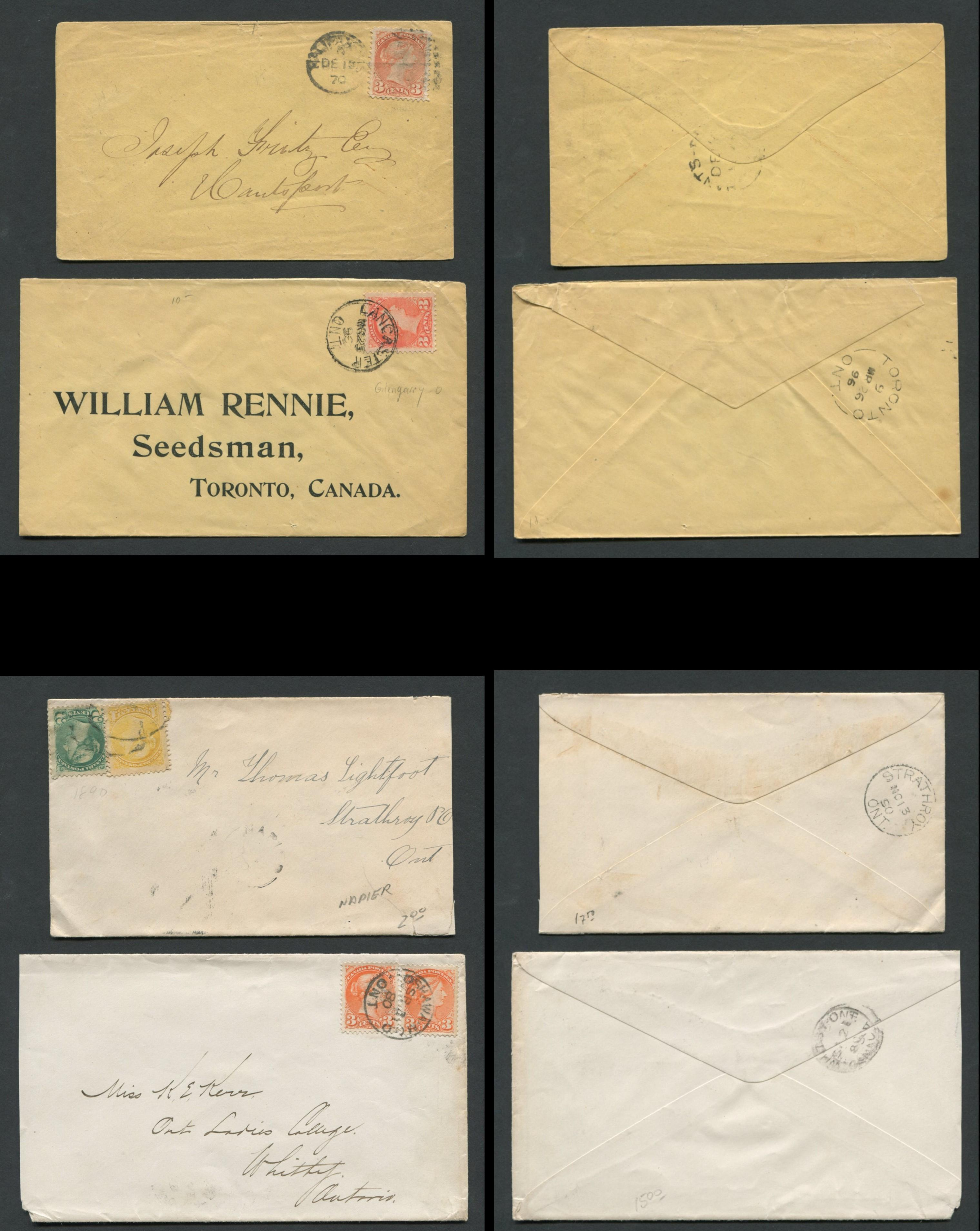 Canada Victoria Stamp Covers 11