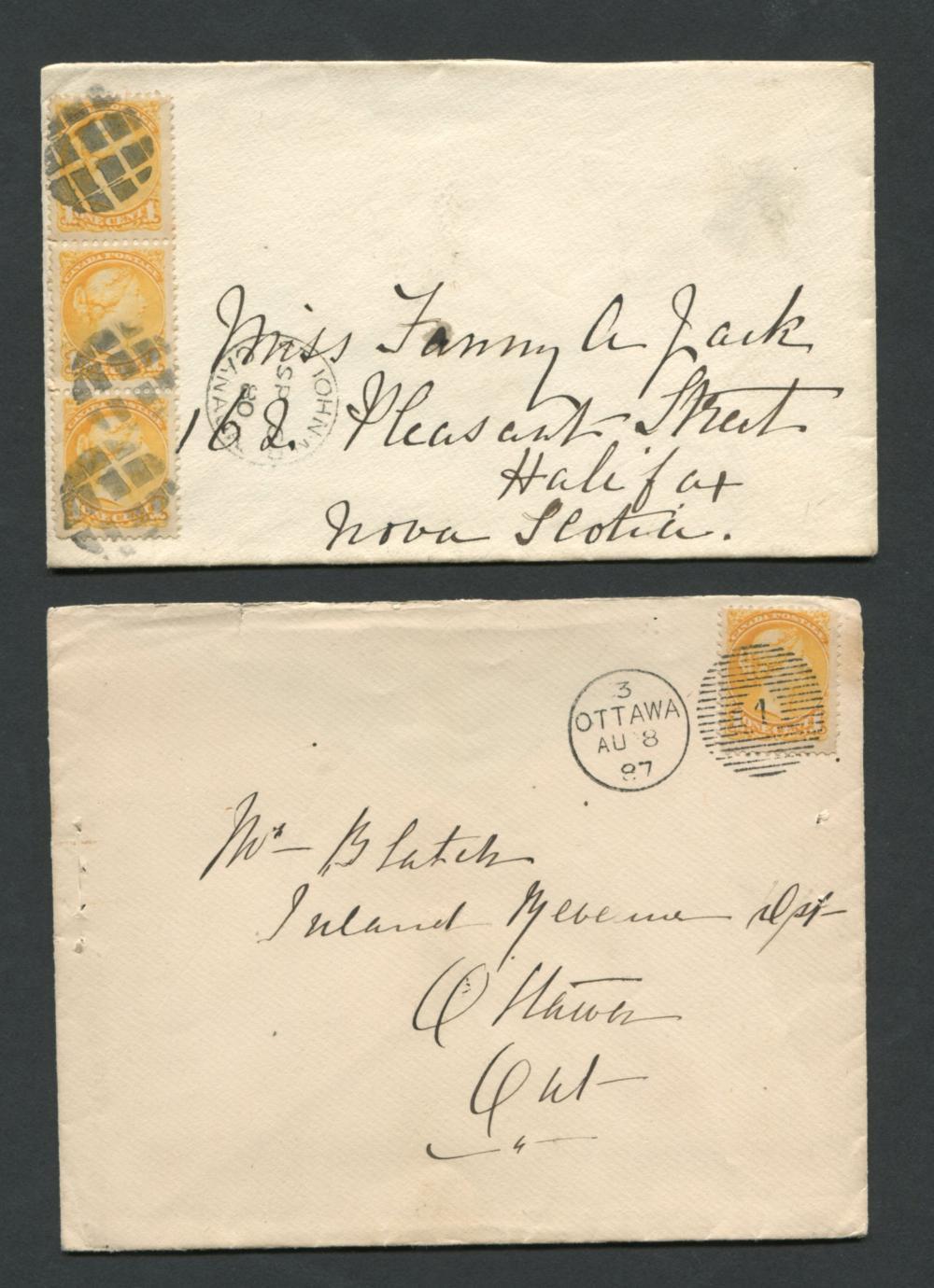 Canada Victoria Stamp Covers 20