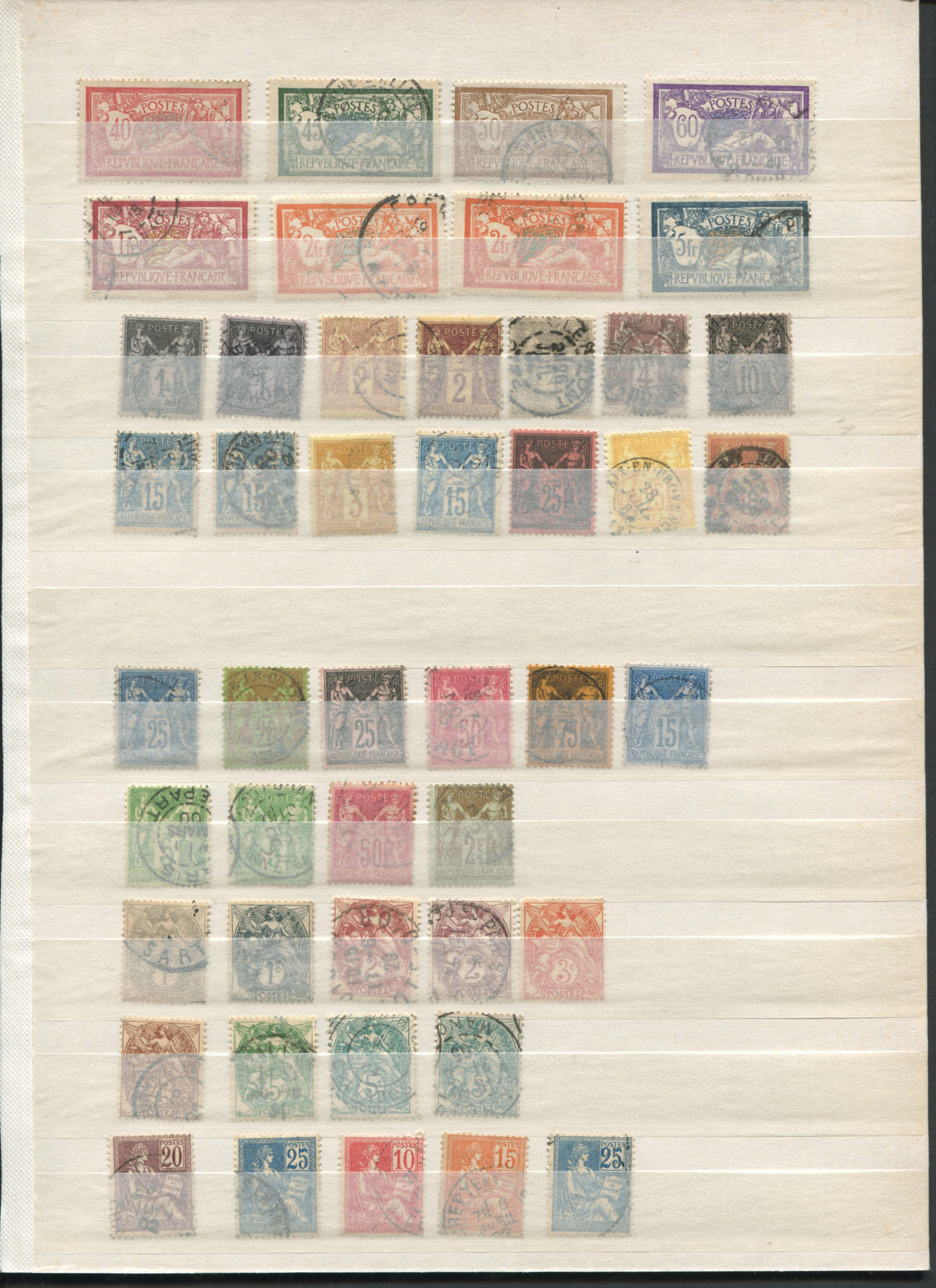 France 1877-1929 Stamp Collection