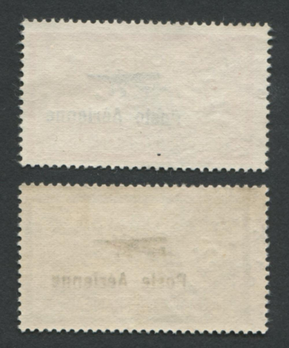 France 1927 #C1 A18 2Fr and #C2 A18 5Fr Overprinted in Black VF