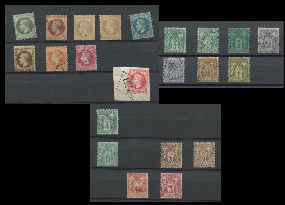 France 1863-77 Early and Rare Stamp Collection