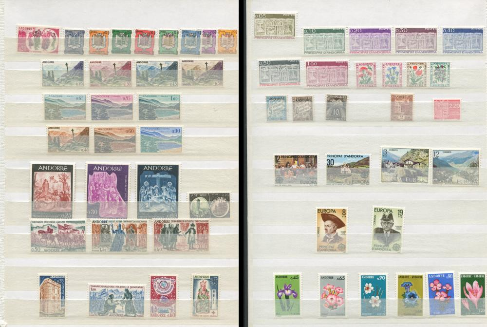 Andorra French Administration MNH Stamp Collection