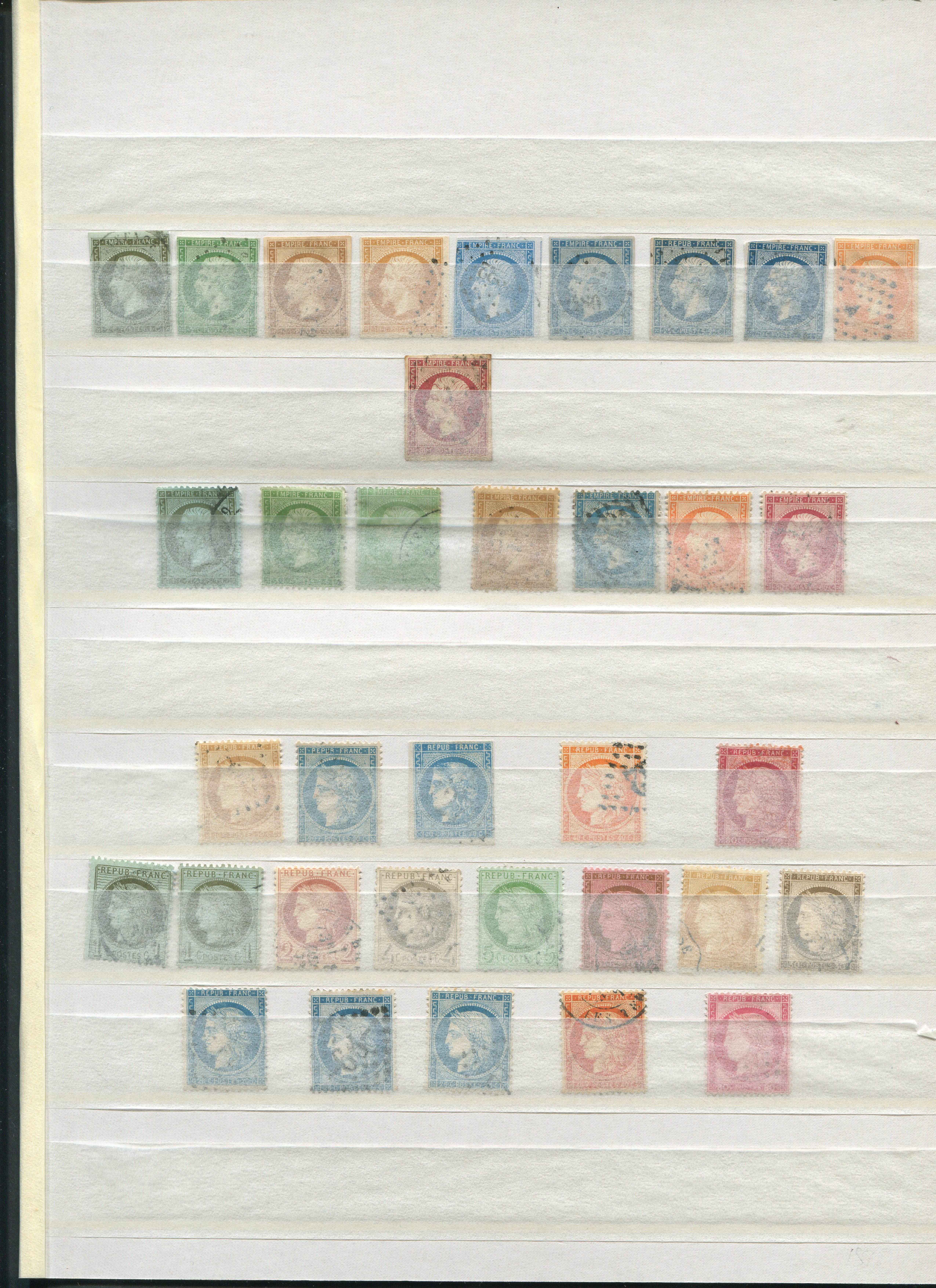 France 1853-1870 Stamp Collection