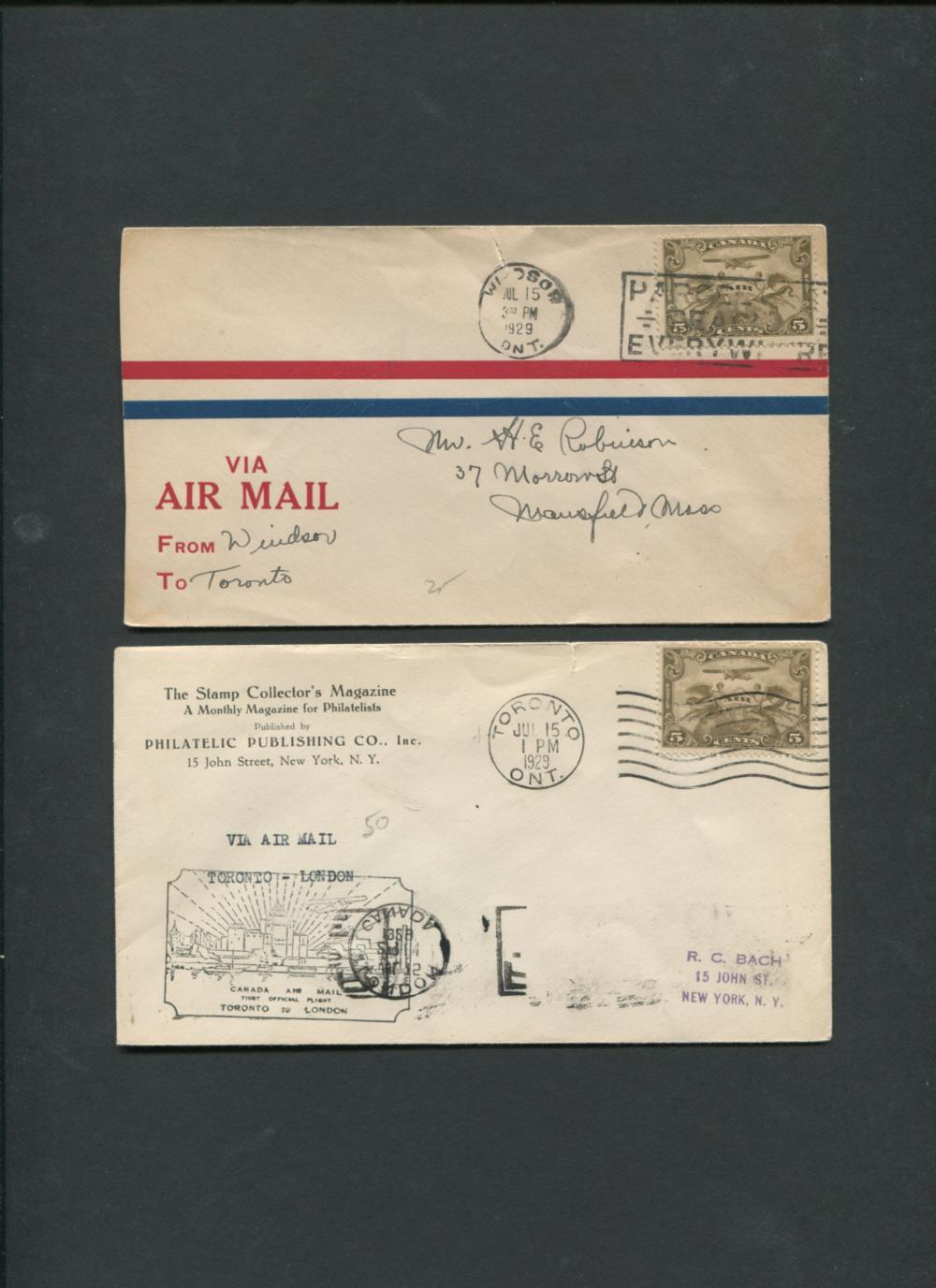 Canada First Flight Covers Collection 1929-47
