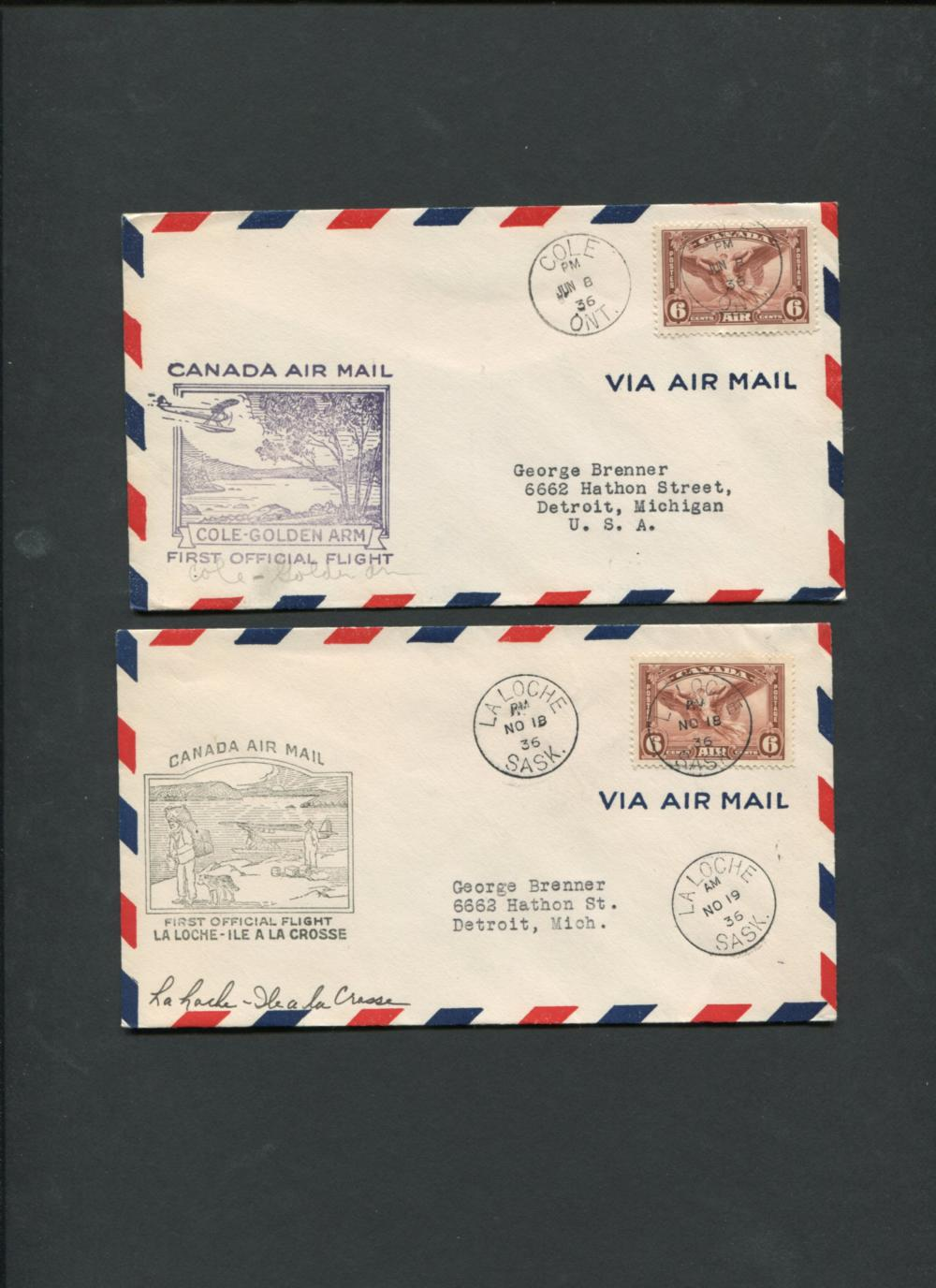 Canada First Flight Covers Collection 1936