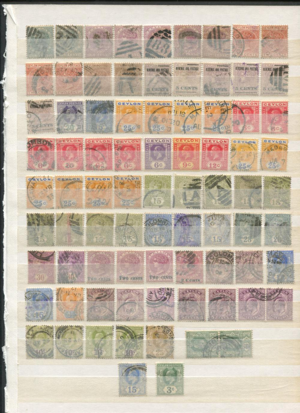 Ceylon Stamp Collection 1