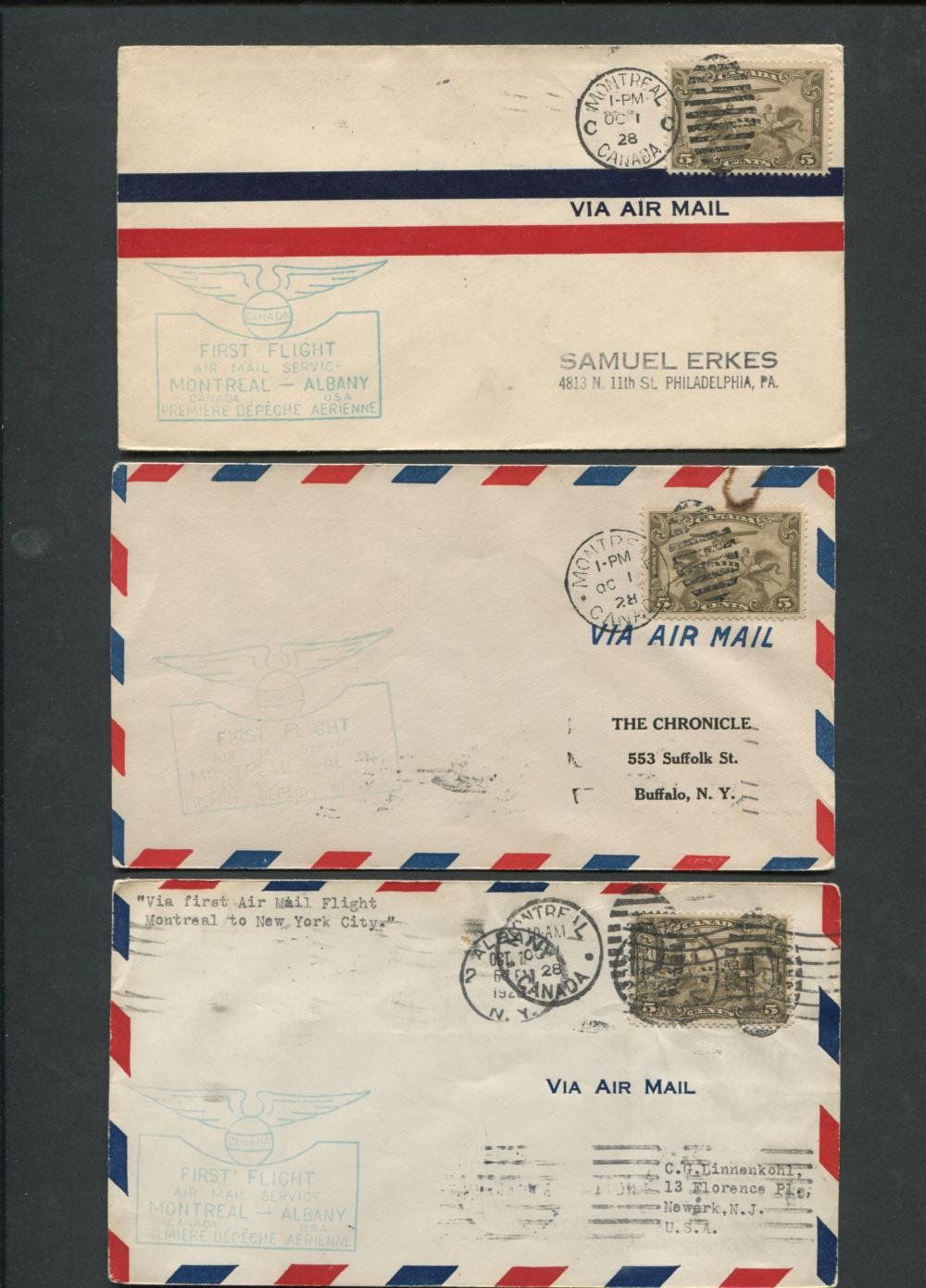 Canada First Flight Covers Collection