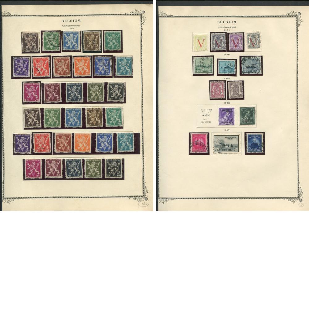 Belgium 1915-49 Stamp Collection