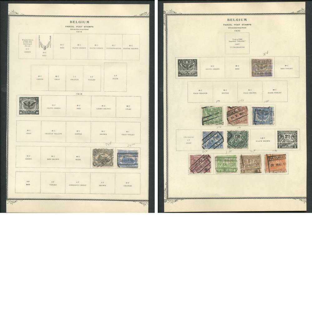 Belgium 1915-57 Parcel Post Stamp Collection