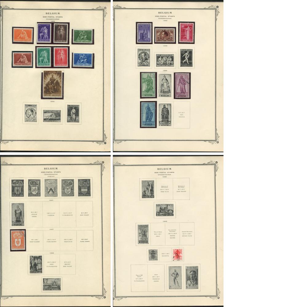 Belgium 1950-66 Stamp Collection