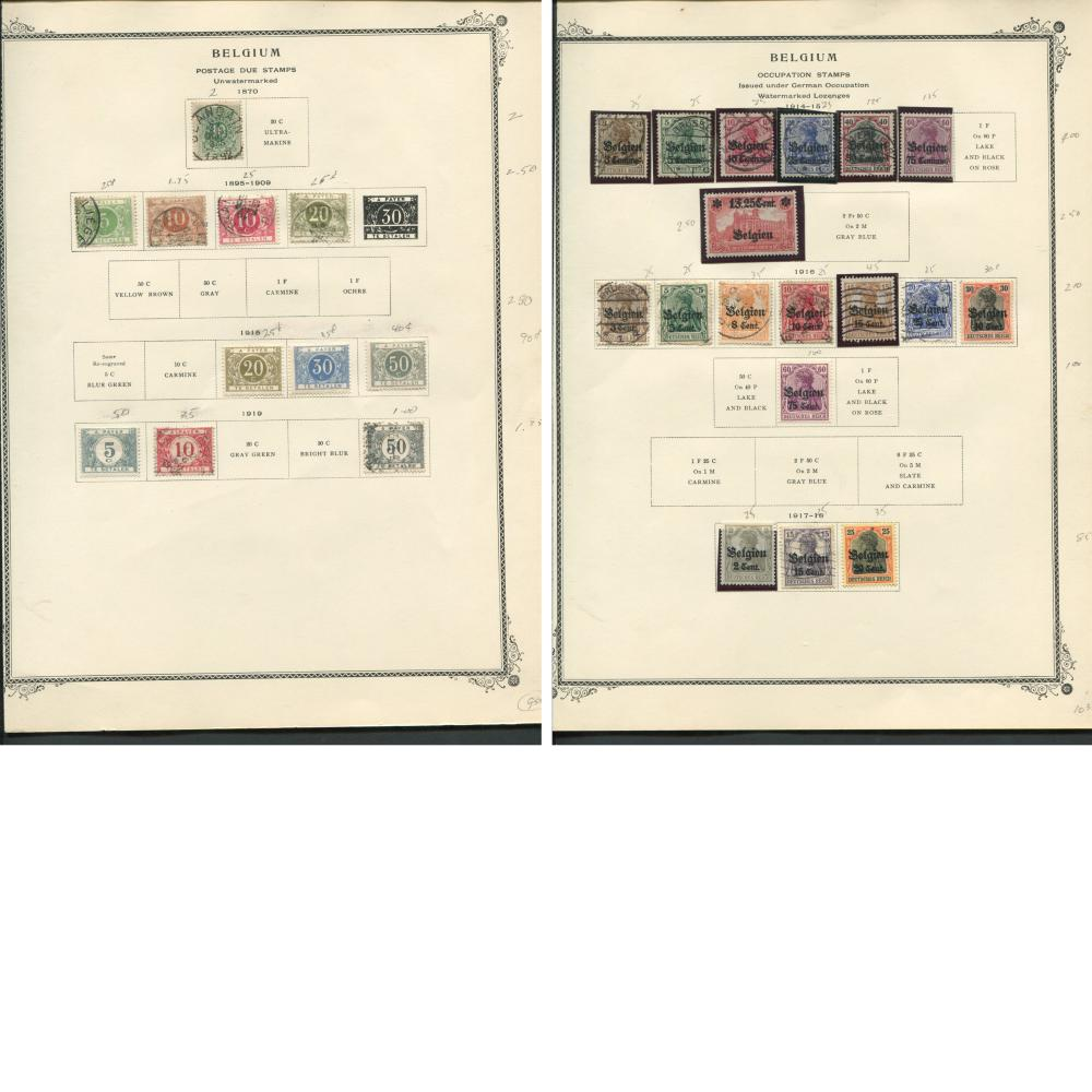 Belgium Stamp Collection 1