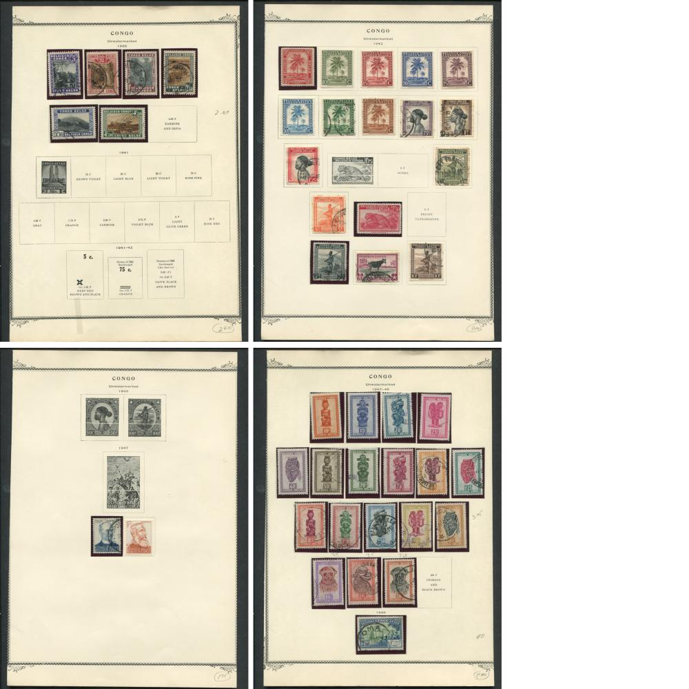 Belgium Congo Stamp Collection