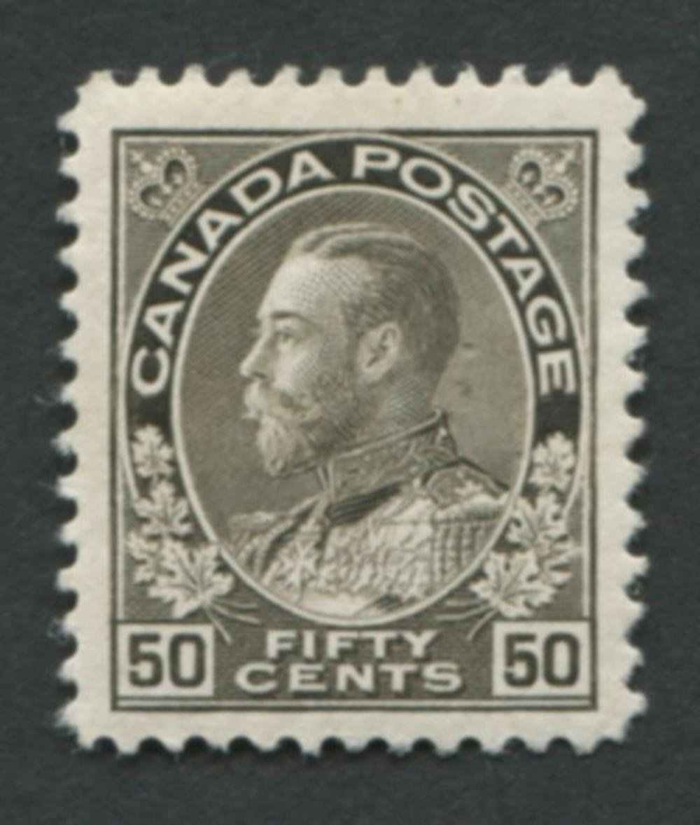 Canada U/T #120i 50c VF/EF MNH OG