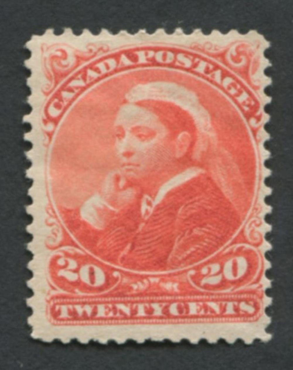 Canada 1893 #46 20c Vermillion MH VF OG