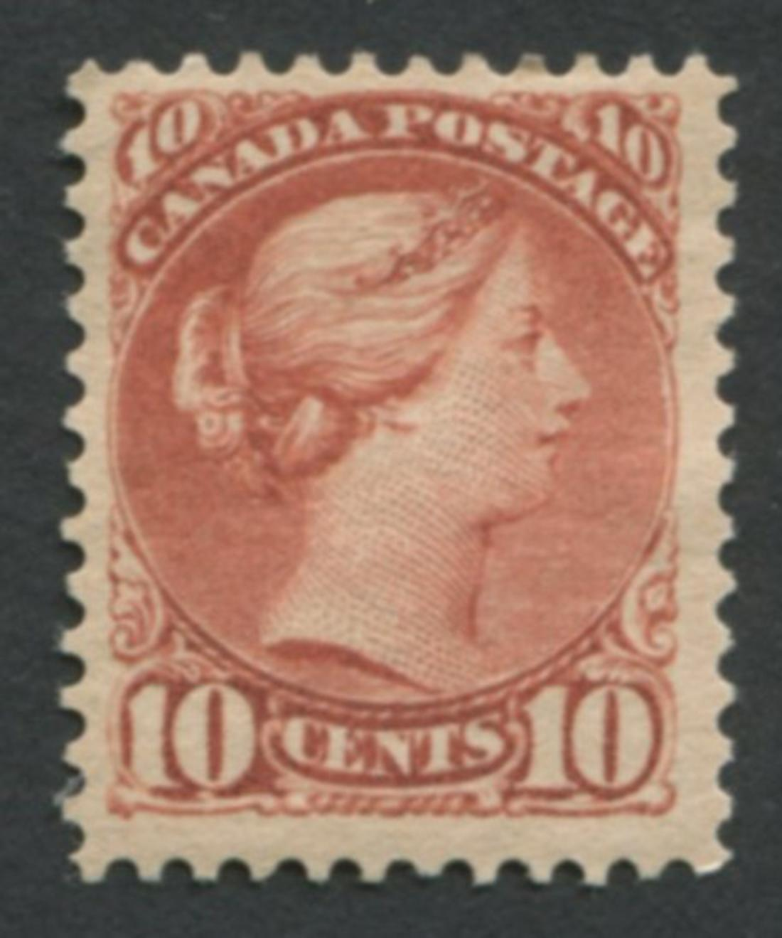 Canada 1888-97 #45 10c Brown Red MH VF OG