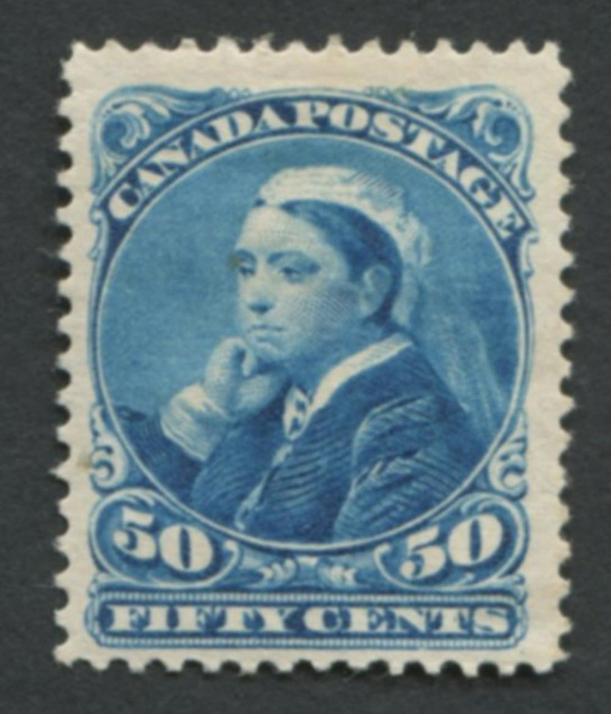 Canada 1893 #47 50c Deep Blue MH VF OG