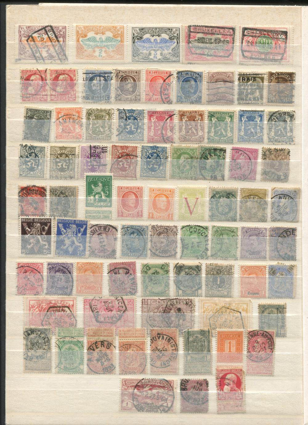 Belgium Stamp Collection - 134 Stamps