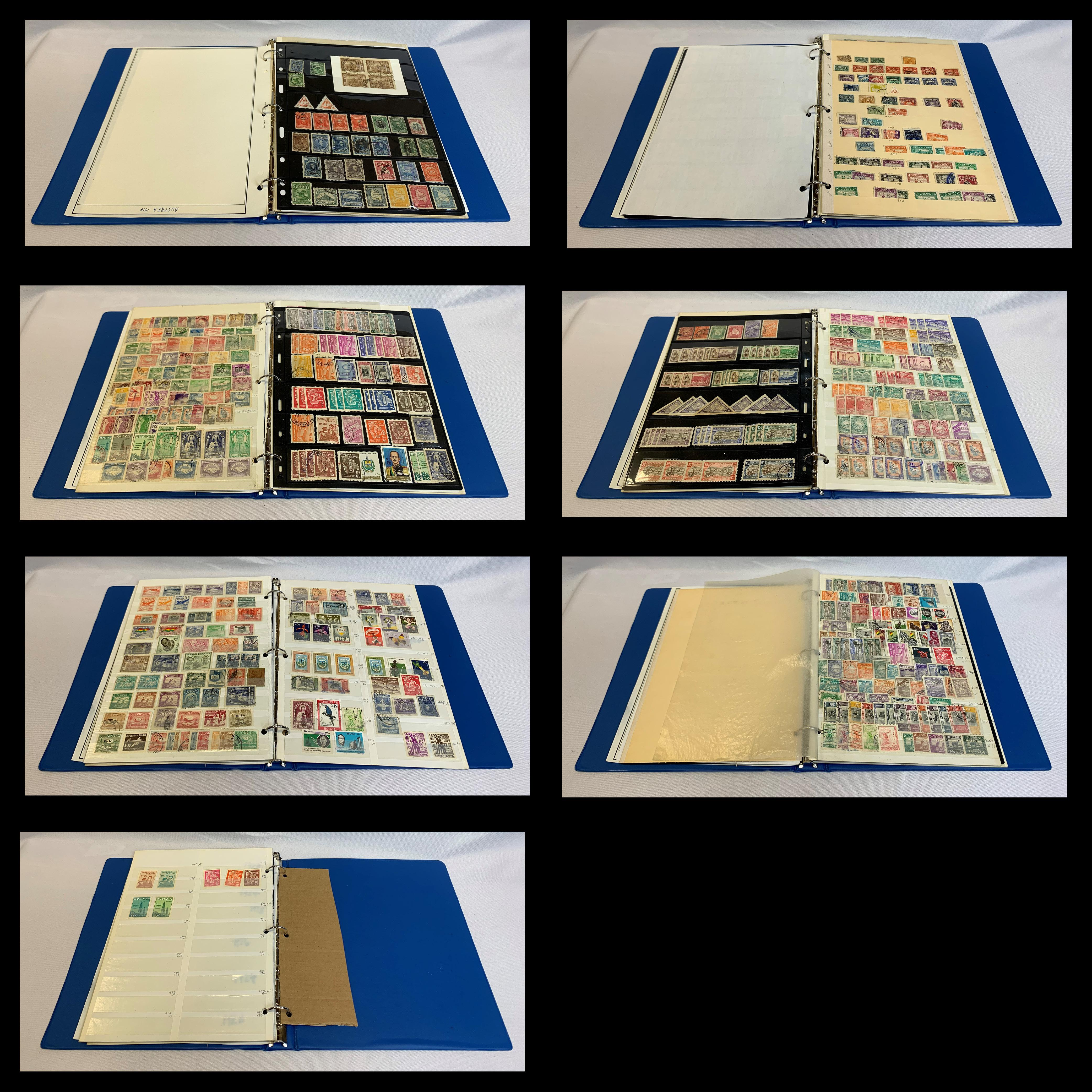 Bolivia Stamp Collection 650 stamps 1894-Date