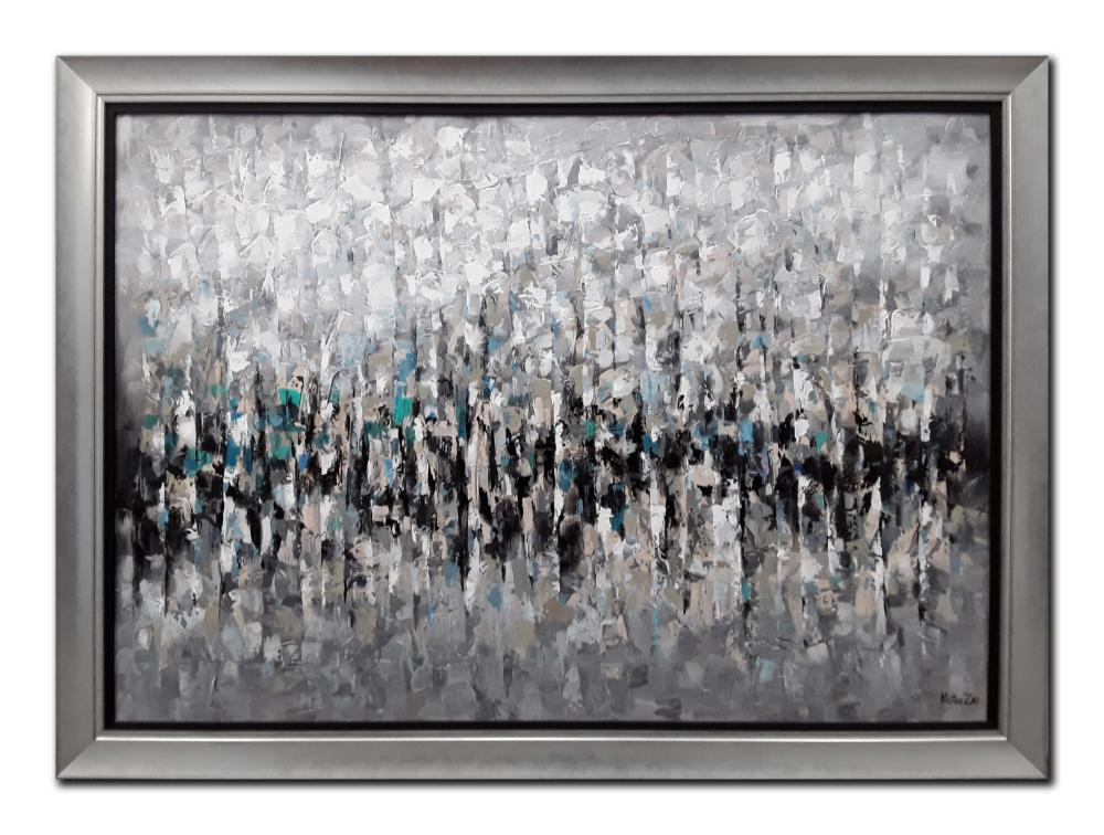 Victor Zag's Original Abstract Acrylic on Canvas Framed Painting