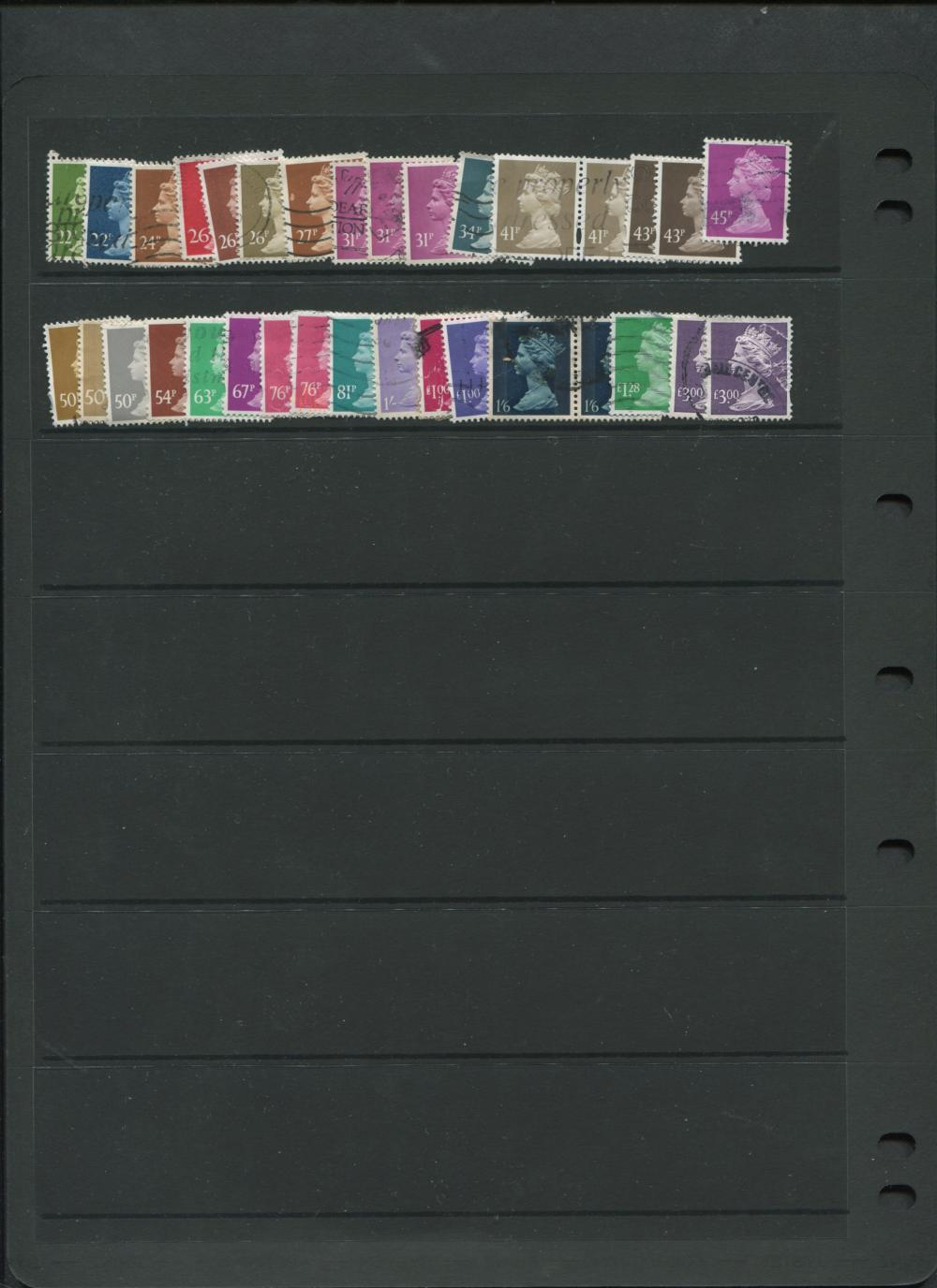 Great Britain Postage Due Stamp Collection
