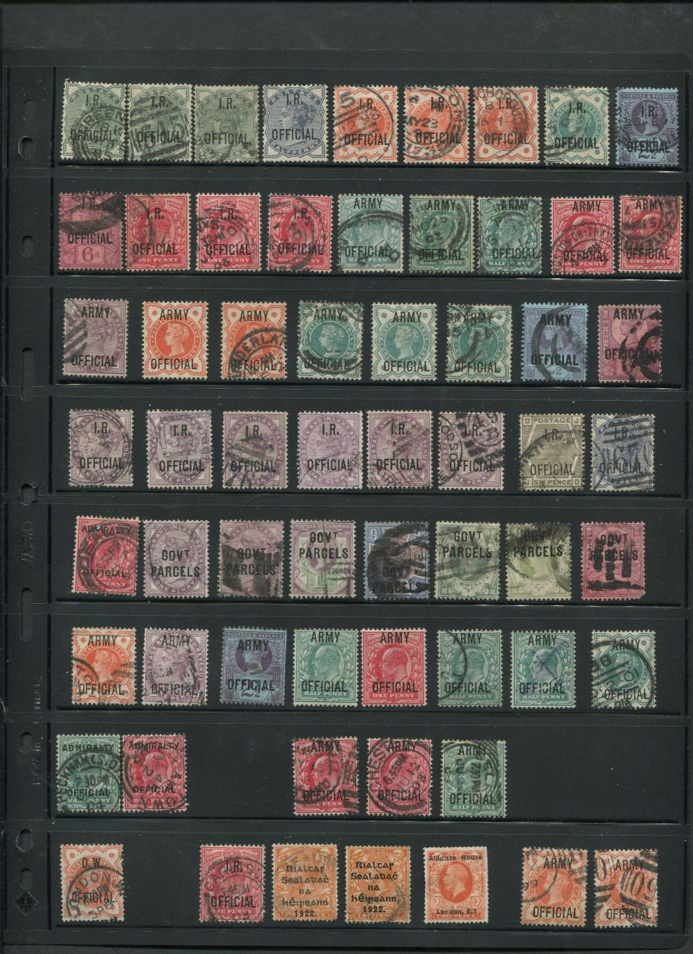 Great Britain Official and Postage Due Stamp Collection