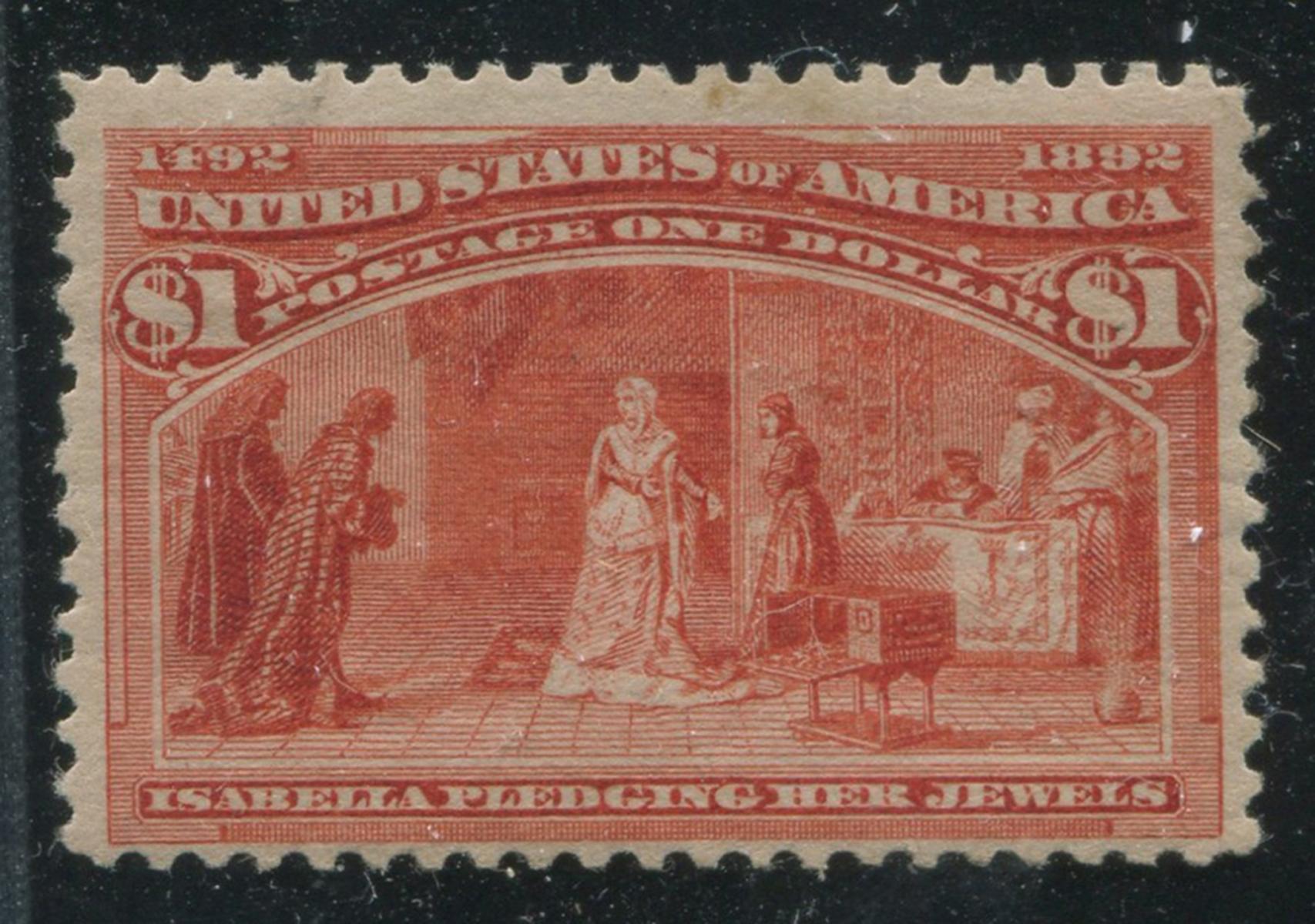 USA 1893 #241 $1 Salmon F MH