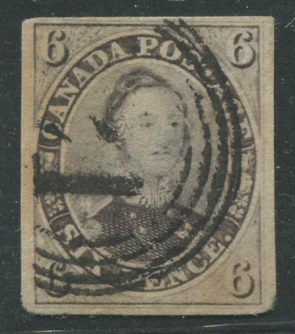Canada 1857 #10 6p Reddish Purple U F-VF