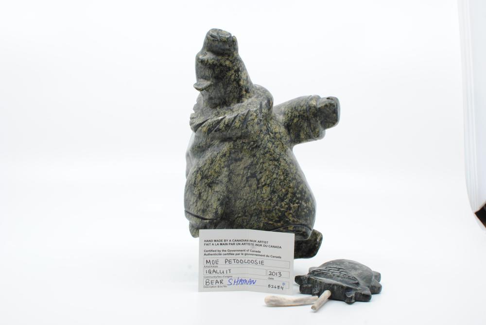 "Moe Petooloosie's ""Bear Shaman"" Original Inuit Carving"