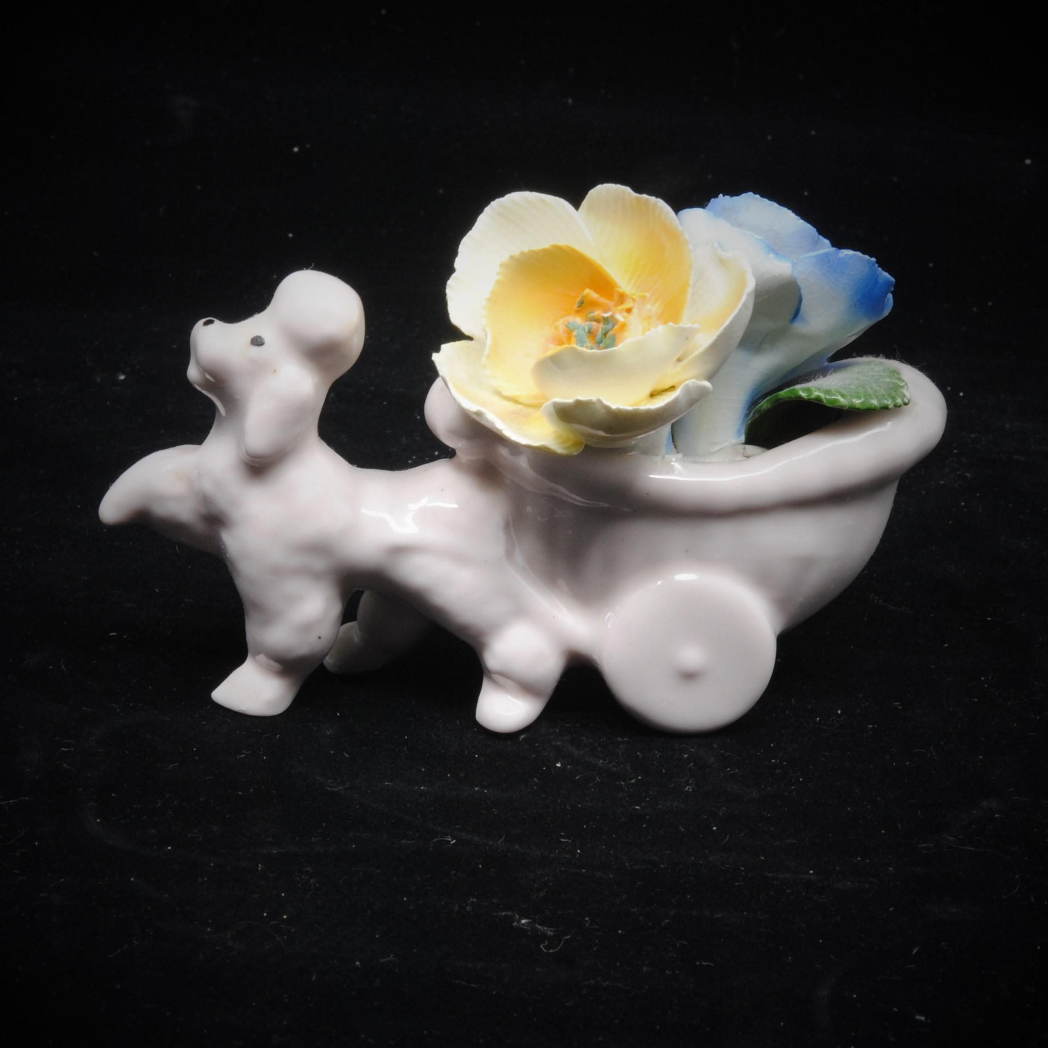 Chorley White Poodle Dog Collectible Figurine